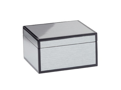 lacquered silver grain lined box small