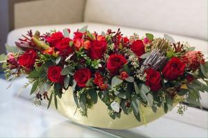 christmas flower arrangement vancouver