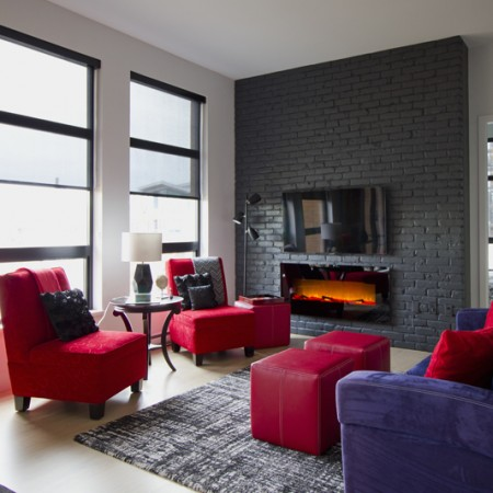 interior design Vancouver eclectic living room loft