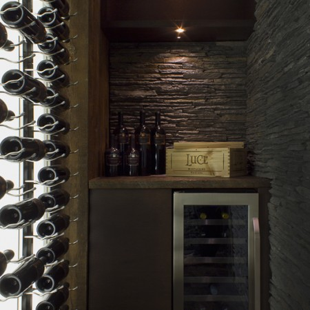 interior design Vancouver Contemporary wine room