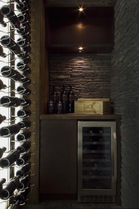 interior design Vancouver Contemporary wine room