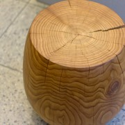 interior design Vancouver dental office wood stool