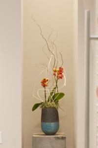 interior design Vancouver dental office flower arrangement