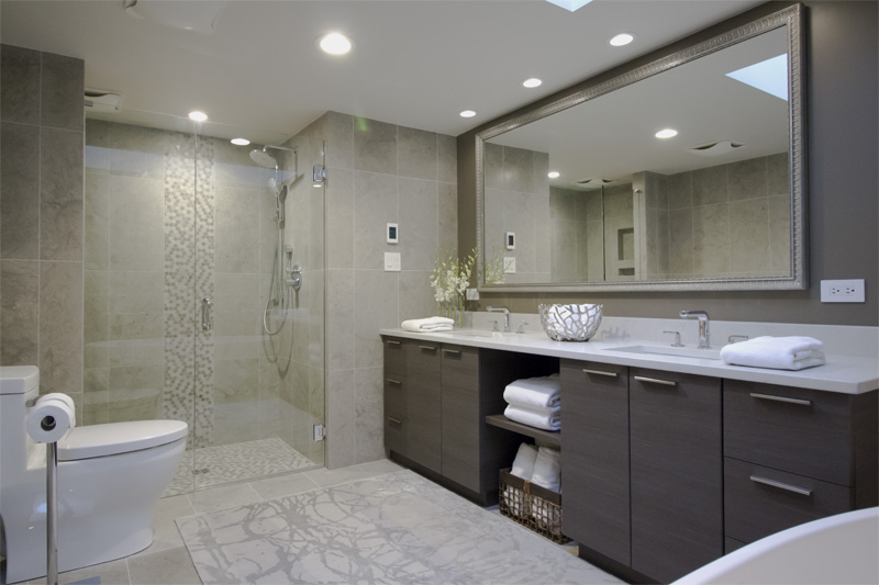 British properties ensuite renovation west vancouver for Contemporary ensuite bathroom design ideas