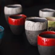 home decor Vancouver Raku vase colourful