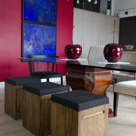 interior design Vancouver eclectic dining room loft