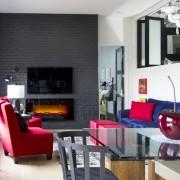 interior design Vancouver eclectic living room loft