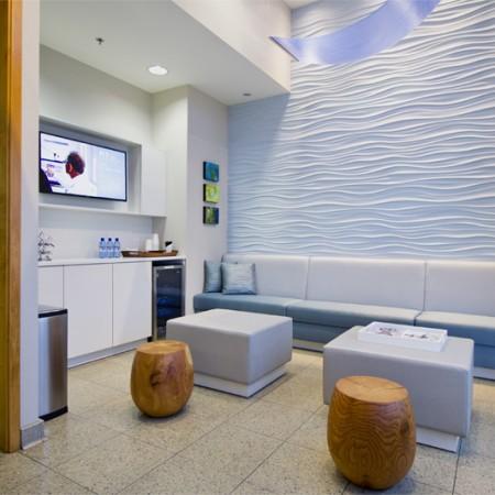 interior design Vancouver dental office waiting room