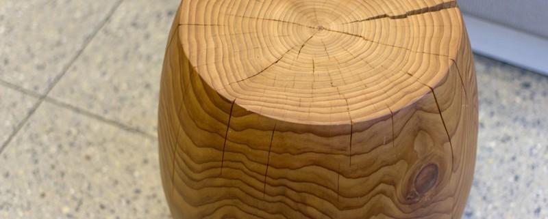 interior design Vancouver dental office wood stool